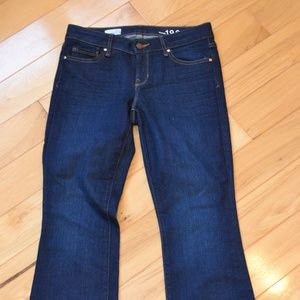 Gap jeans 27s perfect boot dark wash 27 short